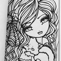 Mermaids Fairies Other Girls Of Whimsy Coloring Book 50 Fan Favs