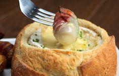 Camembert Potato Bacon Fondue