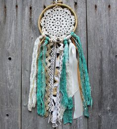 Boho Dream Catcher  Turquoise  Dreamcatcher  by VagaBoundPeople