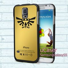 "Zelda Triforce Golden For Samsung Galaxy S5 5.1"" screen Black Case"