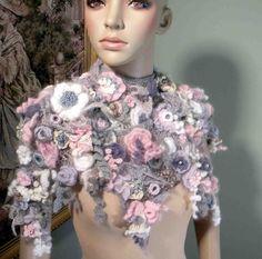 FLOWER SYMPHONY CAPELET  Signature Garment Freeform by julianata, $345.00