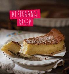 We celebrate National Milk Tart Day! Do you remember Mareli Visser on Koekedoor on Kyknet? Korslose Melktert, Melktert Recipe, Tart Recipes, Sweet Recipes, Dessert Recipes, Custard Recipes, Desserts, Kos, Milk Tart
