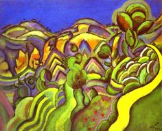 Ciurana, the Path, 1917 (Cubism, Fauvism)- Joan Miro Max Ernst, Spanish Painters, Spanish Artists, Famous Artists, Great Artists, Joan Miro Paintings, Maurice De Vlaminck, Art Sur Toile, Reproduction
