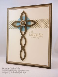 This would make a great Easter card.  It uses the Sizzix Lattice die (Stampin' Up! exclusive).