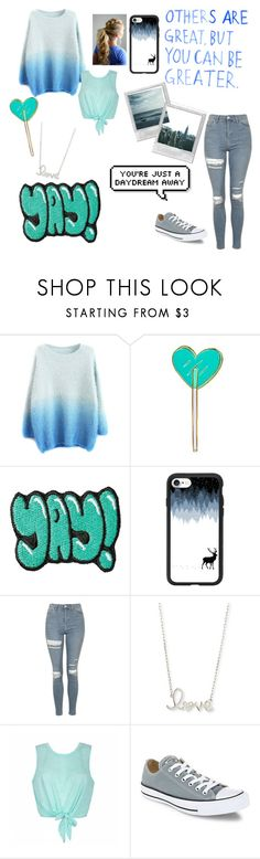 """Blue Theme"" by sporty-fashion ❤ liked on Polyvore featuring Kreepsville 666, Stoney Clover Lane, Casetify, Topshop, Sydney Evan, Ally Fashion and Converse"