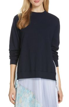 Looking for Clu Pleat Back Mixed Media Top ? Check out our picks for the Clu Pleat Back Mixed Media Top from the popular stores - all in one. Hooded Dress, Silk Midi Dress, Clu, Henley Top, Rebecca Taylor, Cropped Pants, Plus Size Dresses, Nordstrom, Tunic Tops