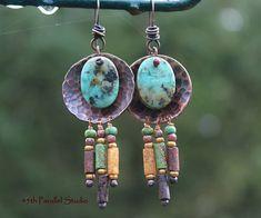 Tibetan Turquoise Earrings Southwestern Earrings Turquoise