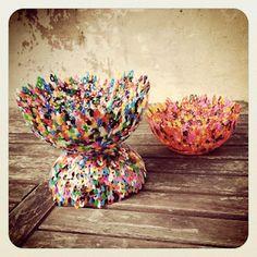 Van losse strijkkralen naar een hip en creatief bakje. Eenvoudig om te maken, ook als je niet handig bent (en weinig geduld hebt)!