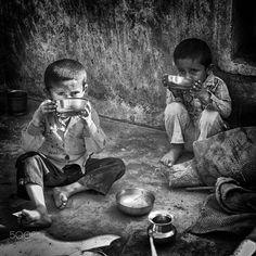 drinking children  gujarat by Gerard Roosenboom on 500px