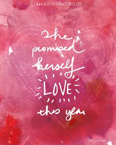 INSTANT DOWNLOAD // She promised herself LOVE by franchescacox