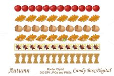 Autumn Borders by Candy Box Digital on Creative Market. It's that time for fall…