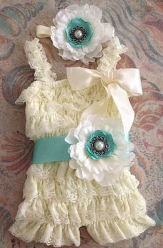 Vintage Girl Posh Petti Ruffle Romper headband belt three colors available  #fitnesshahababy