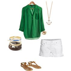 Summer, created by caitkmurray on Polyvore