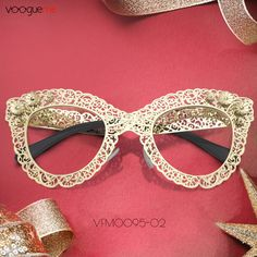 7b95eaca061c Bella Gold Cat Eye Glasses VFM0095-02