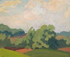 Albert H. Robinson - Untitled Landscape 8 x 10 Oil on board Oil, Landscape, Board, Artist, Painting, Painting Art, Landscape Paintings, Paintings, Painted Canvas