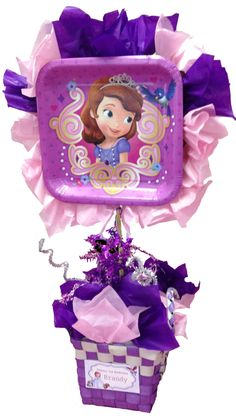 Sofia the first table centerpiece by Cupcookery on Etsy, $12.00