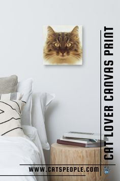 A cat portrait canvas print is just what you need in your space for a purrfect cat inspired home decor. With a vivid print that every cat parent will fall in love with, this home decor piece will look great on your living room wall, in your bedroom or in your office! A thoughtful gift that will not disappoint the cat mom or the cat dad in your life. #catloverhomedecor #catcanvas #catportrait #catmomhomedecor #catdadhomedecor #catladyhomdecor Cat Lover Gifts, Cat Gifts, Cat Lovers, Cat Dad, Cat Design, Inspired Homes, Home Decor Items, Christmas Gifts, Canvas Prints