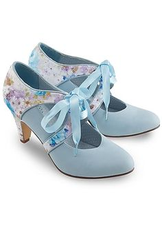 Joe Browns It Must Be Love Ribbon Shoes Mum suggested for my something blue! Even has a bit of lilac to match in colour scheme too!