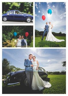 Bride's Cars  :     Picture    Description  A bride and groom with an old jaguar daimler car at llanerch vineyard holding balloons on their wedding day by owen mathias wedding photograher    - #BrideCar https://weddinglande.com/planning/bride-car/brides-cars-a-bride-and-groom-with-an-old-jaguar-daimler-car-at-llanerch-vineyard-holding-ba/