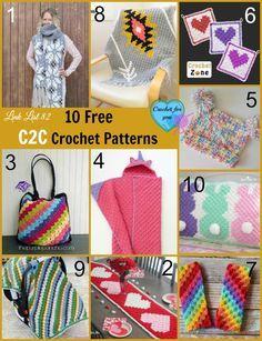 10 Free Corner to Corner Crochet patterns Link List.
