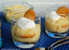 Slow Cooker Pineapple Pudding. Easy + Delicious. 211 calories, 6WWPP. http://simple-nourished-living.com/2014/02/slow-cooker-pineapple-pudding/