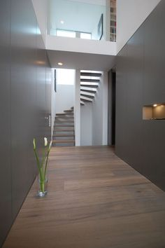Bünck Architektur :: köln 2 - New Ideas Mobile Home Kitchens, Mobile Home Living, Interior Design Presentation, Open Plan Kitchen Living Room, Mobile Home Decorating, Modern Stairs, Staircase Design, Attic Staircase, Interior Stairs