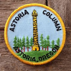 Astoria Column Astoria Oregon Vintage Souvenir by HeydayRetroMart