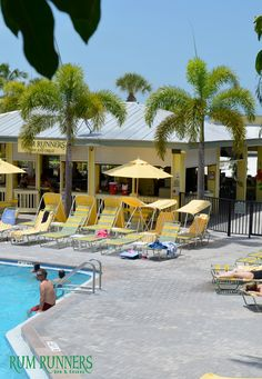 Relaxing at Rum Runners - Sirata Beach Resort   #BeachBar #PalmTrees #Florida #Fun #Vacation #Summer #Family #Pool #Beach
