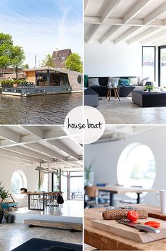 The Boathouse: a new definition to lakefront living! Living On A Boat, Tiny Living, Home And Living, Living Spaces, Architecture Durable, Architecture Design, Sustainable Architecture, Houseboat Living, Houseboat Decor