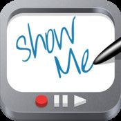 Show Me - Need an interactive whiteboard for your iPad. This is the app for you!! This is a fun way to interact with students. (Free)