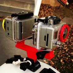 Shapeways.com/shops/dmurrenterprises Dual GoPro mount that allows two cameras to be facing opposite directions on the same mount. Check my shop to get your own! #GoPro