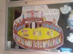 En la sesión de arte hemos hecho una composición sobre un teatro-circo donde los romanos habían ido a ver unas carreras de cuádrigas, combat...