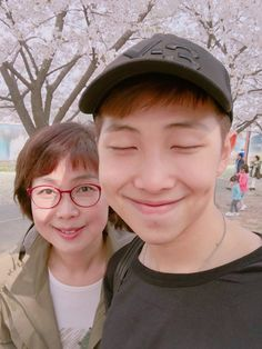 Namjoon and his mother