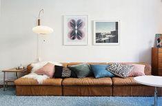 good leather sofa...