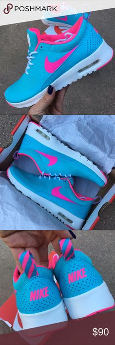 SALE‼️NWB  LAST PAIR NIKE AIR MAX THEA  SALE. NO OFFERS PLEASE. NEW never worn Nike THEA in original box.   Size 5.5 youth approx = SZ 7 women  ➡️ORDER YOUR WOMANS SHOE SIZE  Ships same or next day from my smoke free home w/ original box. Perfect for gift giving!   Bundle items to save.   PRICE FIRM. 100% authentic product purchased directly from NIKE Nike Shoes Athletic Shoes