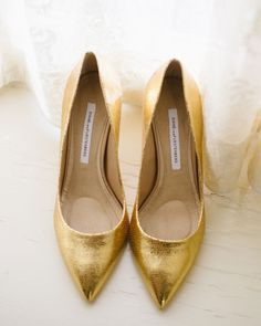 Gold Wedding shoes see more http://www.itakeyou.co.uk/wedding/gorgeous-wedding-shoes/ silver wedding shoes,gold wedding shoes,wedding shoes red,blue wedding shoes,bridal wedding shoes,elegant wedding shoes