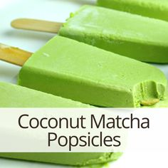 Delicious, creamy, and dreamy... these popsicles are a healthy new twist on some of our favorite sugary treats. If you like matcha mochi, these may become a new fave. These are low glycemic and free of processed sugar. Yacon is a low calorie natural sugar substitute that is well known for it's health benefits, including lots of antioxidants and digestion-boosting inulin. #matcha #matchagreentea #popsicle #summer #healthyrecipes #vegan #raw #glutenfree #lowglycemic #superfood