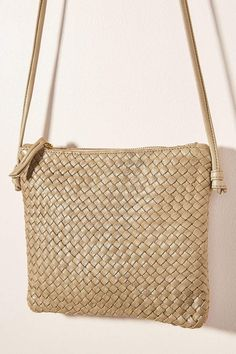 Claramonte Woven Crossbody Bag by in Green Size: All, Bags at Anthropologie Purses And Handbags, Crossbody Bag, Product Launch, Shoulder Bag, Green, Anthropologie, Link, Anthropology