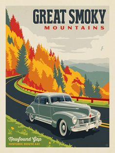 Anderson Design Group – American National Parks – Great Smoky Mountains National Park: Hwy 441