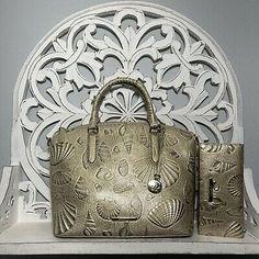 Brahmin Duxbury Satchel & Ady Wallet SET Stardust Draper Melbourne Leather 749034331291 | eBay Brahmin Handbags, Medium Bags, Sea Shells, Melbourne, Satchel, Handmade Items, Shoulder Bag, Things To Sell, Wallet