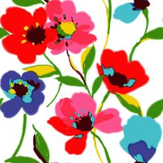 ESTAhome.nl - multi poppies woven wallpaper