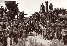 Completion of the world's first transcontinental railroad was celebrated at Promontory Summit, Utah, where the Central Pacific and Union Pacific Railroads met on May 10, 1869.