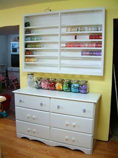 60 Ideas Craft Room Organization Ribbon Thread Storage For 2019 Craft Room Decor, Craft Room Design, Craft Room Storage, Craft Rooms, Storage Ideas, Thread Storage, Ribbon Storage, Diy Ribbon, Paper Storage