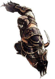 Galka Monk from Final Fantasy XI