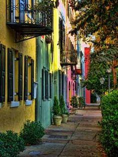 Rainbow Row Charleston South Carolina