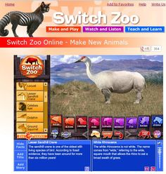 SWITCH ZOO~  Fun online activity to merge animals to create new species.  Great science tie-in, or just for fun!