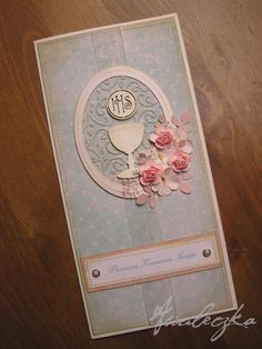 first communion scrapbook First Communion Banner, Holy Communion Invitations, First Holy Communion, Confirmation Cards, Baptism Cards, Baptism Favors, Church Events, Money Cards, Paper Cards