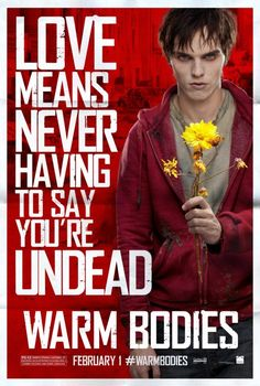 Nicholas Hoult is a Zombie named R who is slowly cured by his love for Teresa Palmer as Julie. 2.1.12
