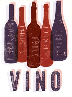 Vino Bottles by FowlerCreativeArts on Etsy