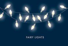 fairy lights vector by lyeyee on @creativemarket